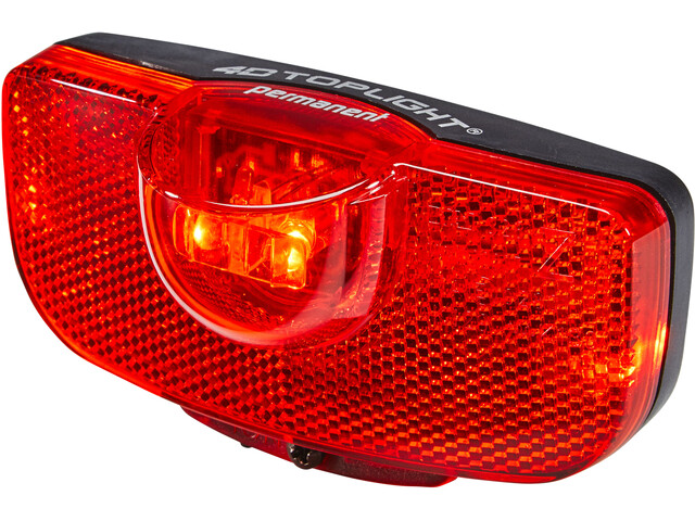 Busch + Müller 4D-Toplight Battery Rear Light permanent black/red